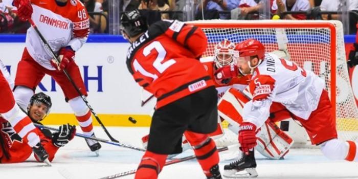 Канадцы забросили 14 безответных шайб вворота сборной Дании