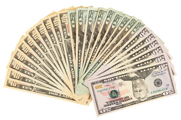 Веер с доларами фото